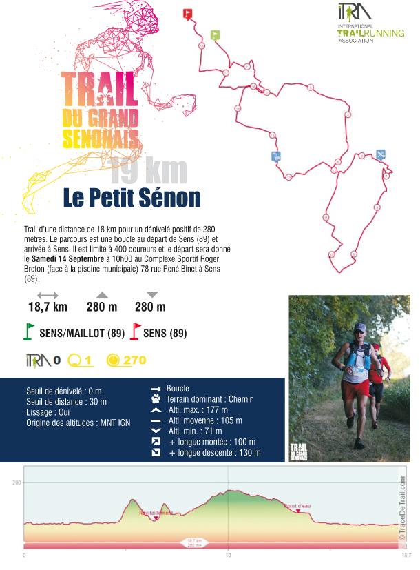 Trail Du Grand Sénonais 2019 : Trail 19km : Le Petit Senon