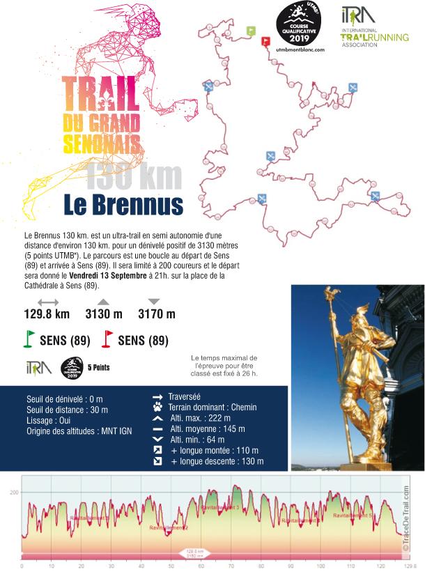 Trail Du Grand Sénonais 2019 : Trail Ultra 130km : Le Brennus
