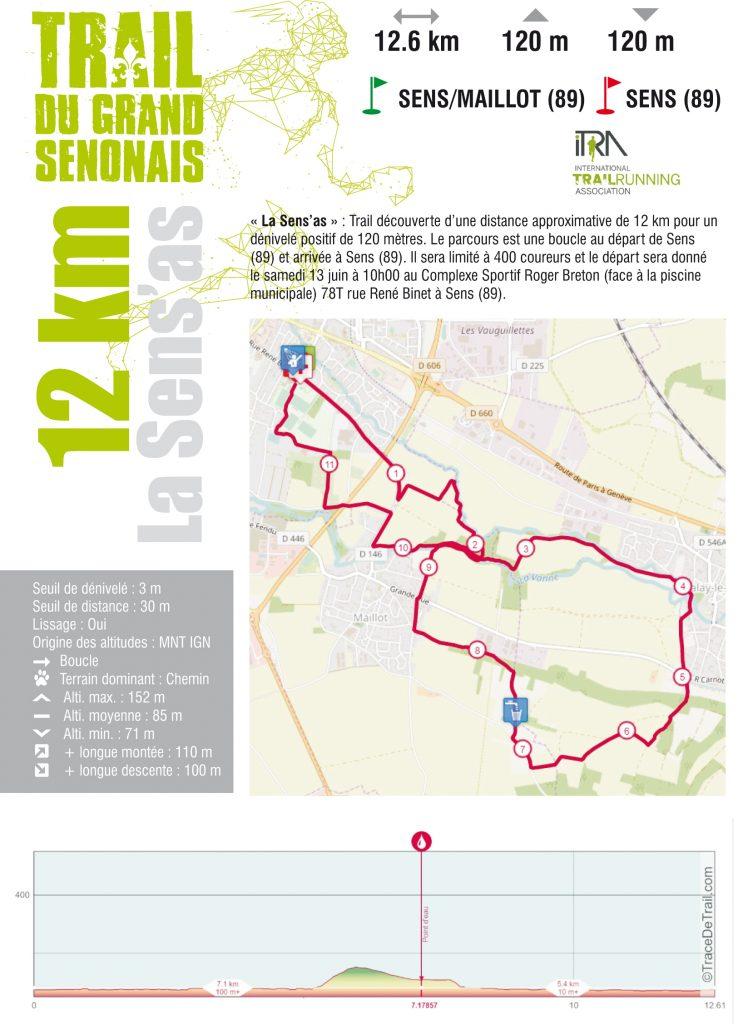 Fiche course Trail 12 KM