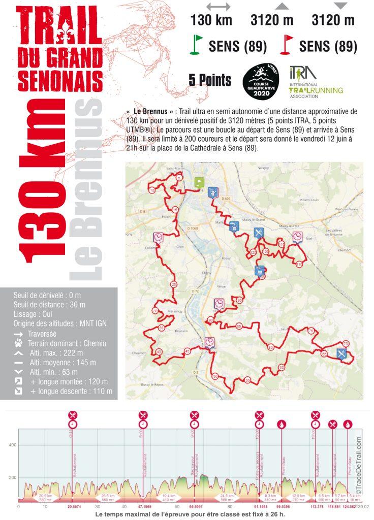 Fiche course Trail Ultra 130 KM