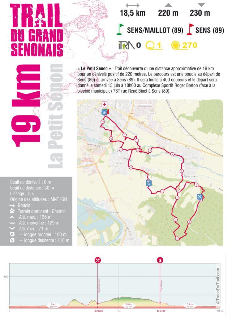 Fiche course Trail 19 KM