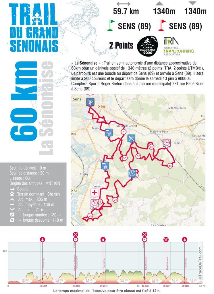 Fiche course Trail 60 KM